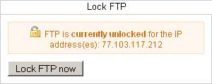 unlock FTP for one IP address
